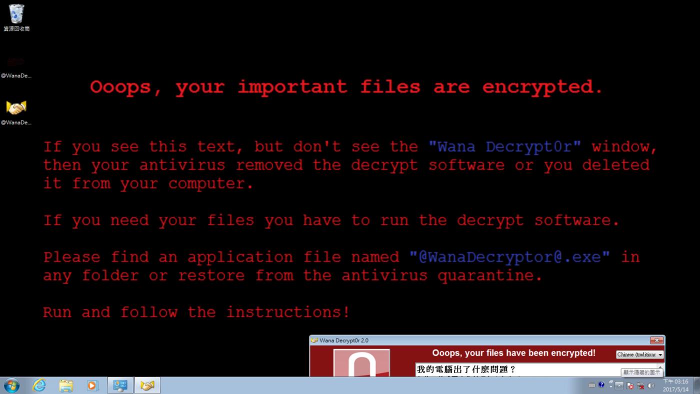 請馬上更新系統安全修正!WanaCrypt0r 2.0 勒索病毒災情不斷傳出 @3C 達人廖阿輝