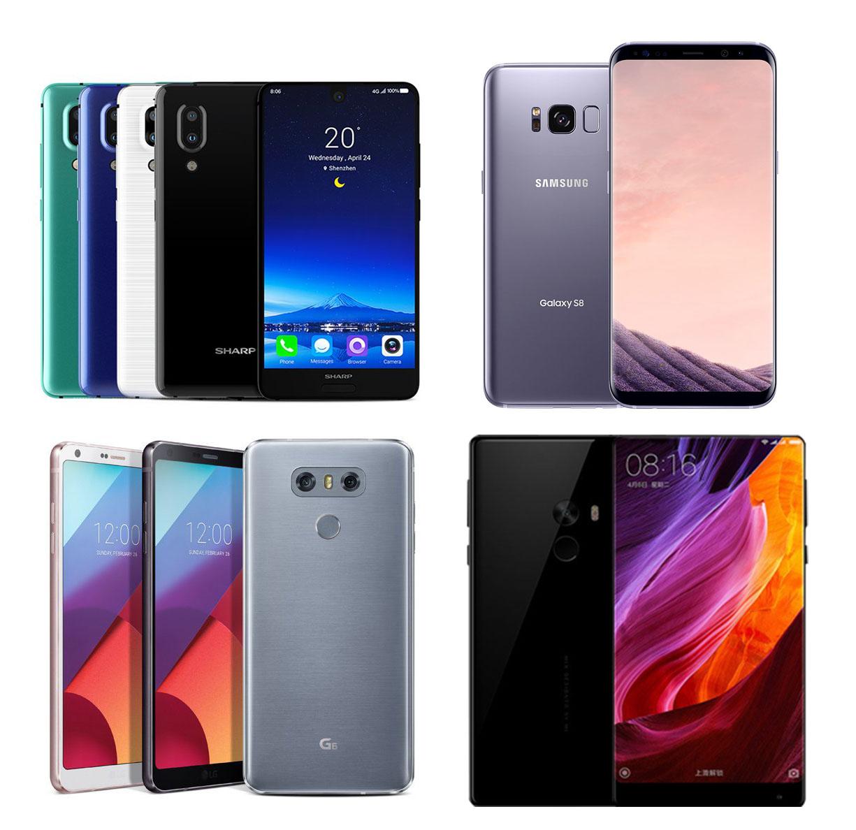 Sharp AQUOS S2 來了!全面屏手機 (高屏佔比) 規格比較表(包含 S8/S8+, G6, 小米 MIX)@3C 達人廖阿輝