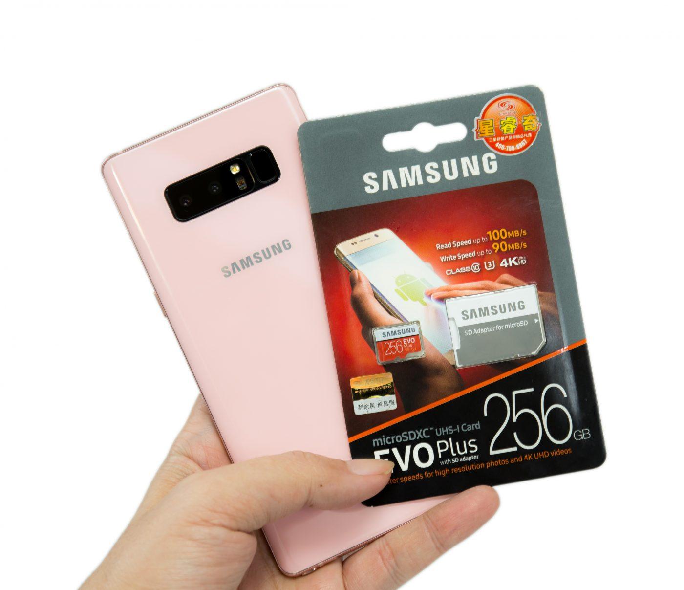 想幫 Note 8 擴充容量?!三星 256GB 高速 EVO Plus UHS-1 C10 U3 記憶卡實測 @3C 達人廖阿輝
