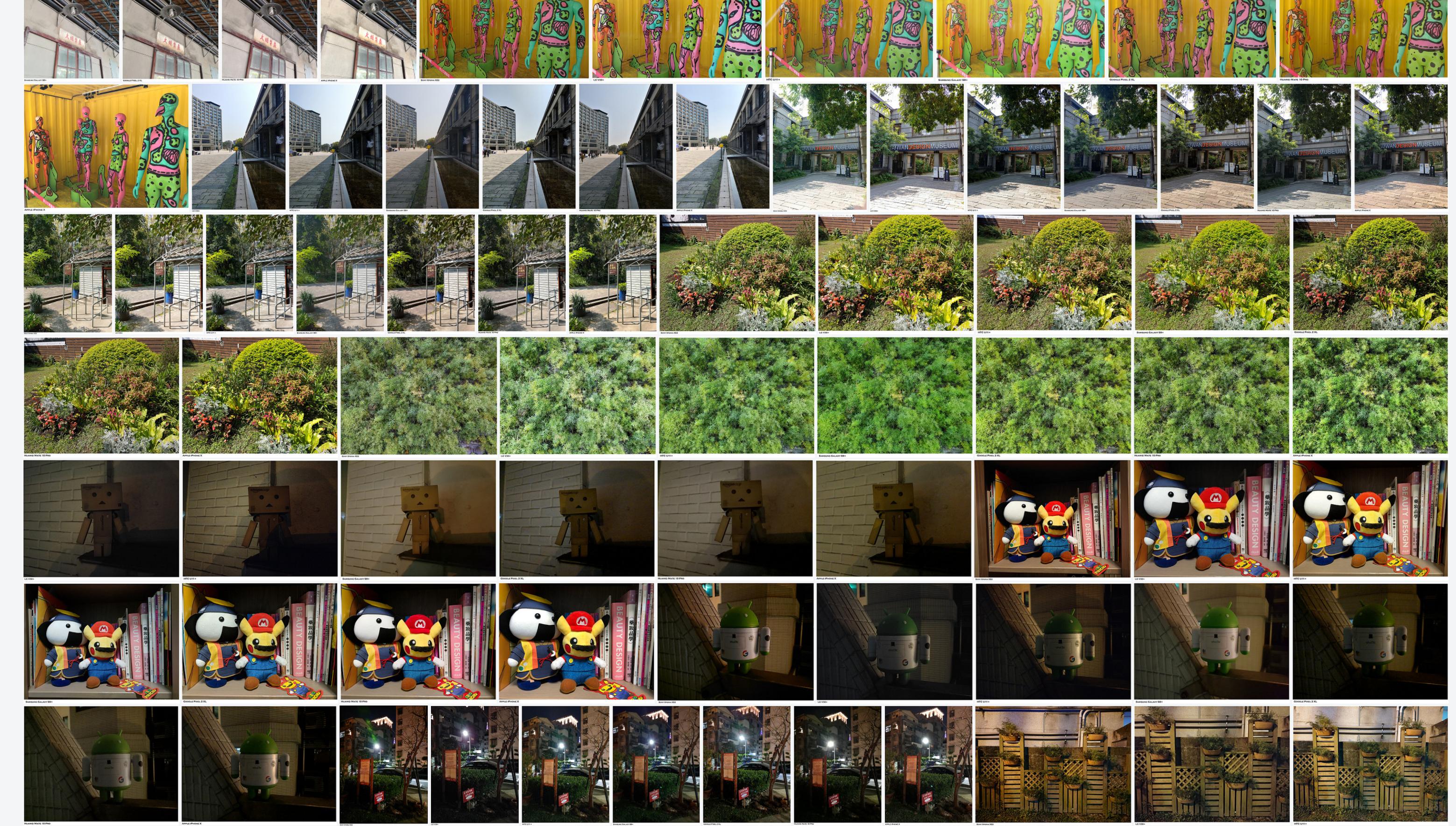 一次看七隻旗艦機!2018 最強相機旗艦 PK (2) (S9+/XZ2/Mate10Pro/V30+/Pixel2XL/U11+/iPhone X – Camera Comparison) @3C 達人廖阿輝