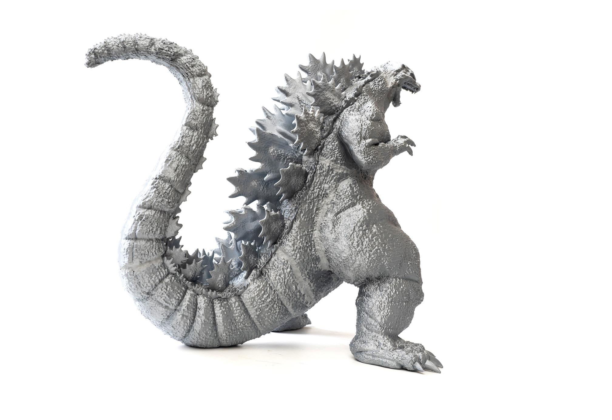 [3DP] 帥氣 3D 列印哥吉拉公仔~ 45 公分超巨大! @3C 達人廖阿輝