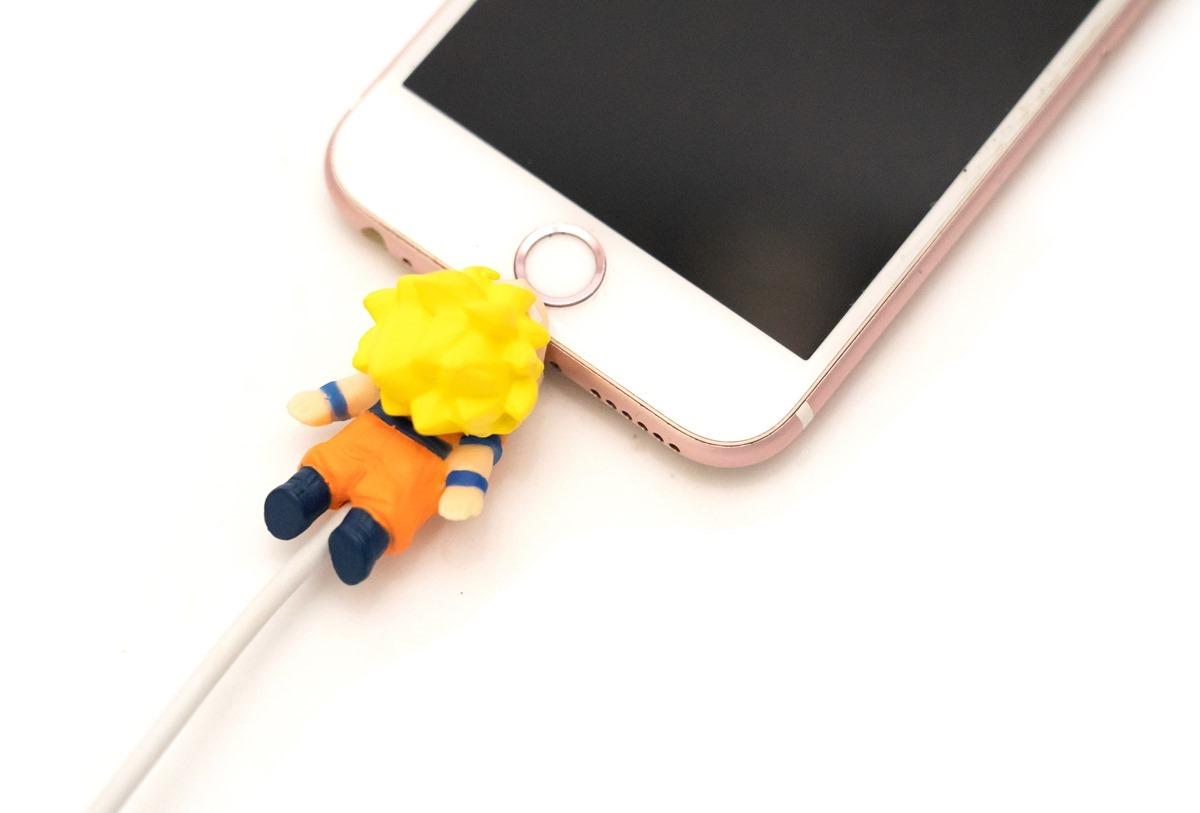 超可愛開箱!龍珠 Cable Bite 手機充電線保護套(悟空 / 超級賽亞人悟空 / 弗利沙)@3C 達人廖阿輝