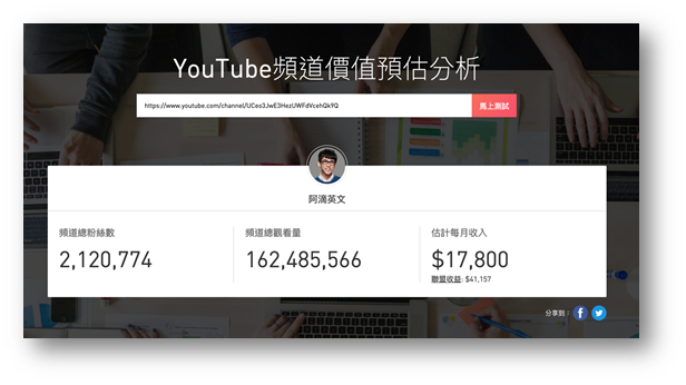 想找 YouTuber 網紅合作?NoxInfluncer 一鍵獲得專業分析報告、找到最合適對象 @3C 達人廖阿輝