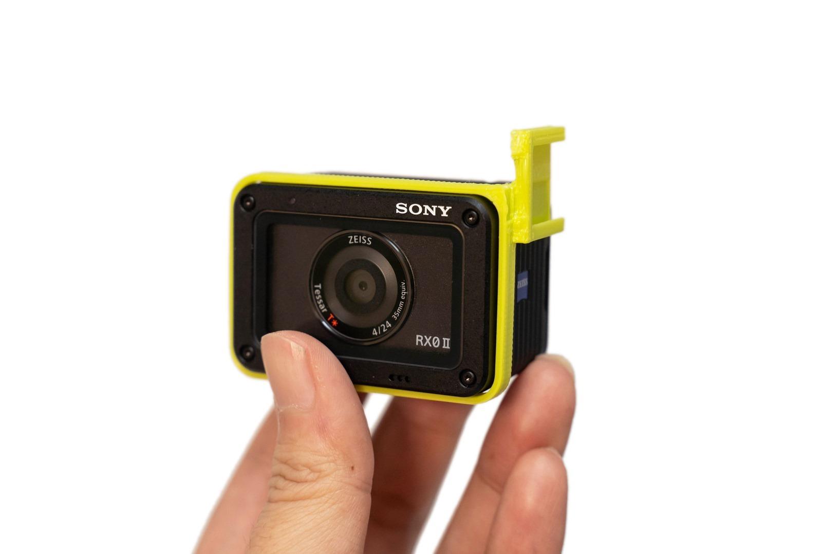 Sony RX0 II (M2) 外接麥克風固定解決方案 (3D 列印鏡頭熱靴座) @3C 達人廖阿輝
